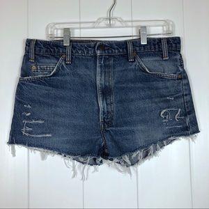 Vintage Rare Orange Tab Levi's Cut Off Shorts